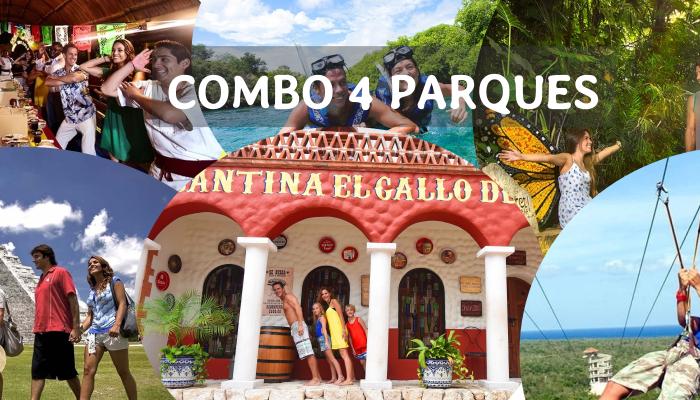 Combo 4 Parques desde Cancun y Riviera Maya