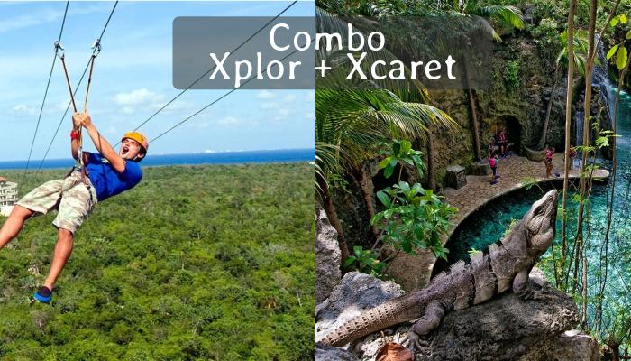 Combo Parque Xplor y Xcaret Plus