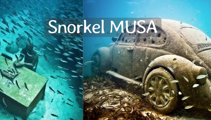 Snorkel en Museo Subacuático Cancún MUSA